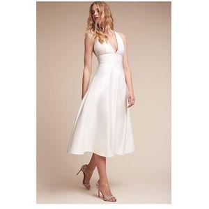 BHLDN SHELBY DRESS new white